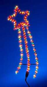 New-OUTDOOR-Multi-Colour-Shooting-Star-Christmas-Motif-Light-Decoration-8-Progs