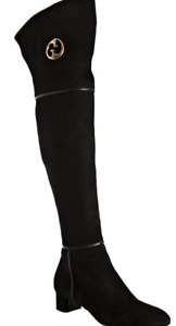 GUCCI, Suede knee high boot