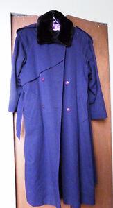 Navy wool winter coat