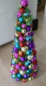 Beautiful Christmas tree made out of colourful balls