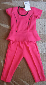 PINK Pants Suit For TODDLERS, Size 2T --- NEW WITH TAGS!!