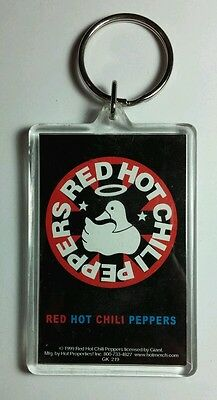 AS-IS RHCP RED HOT CHILI PEPPERS DUCK WITH HALO RED WHITE KEY CHAIN KEYCHAIN