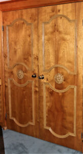 Interior doors - natural wood