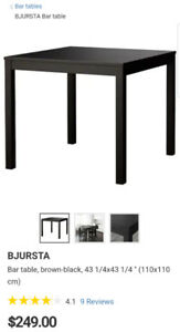 IKEA Bjursta Table and 4 HENRIKSDAL chairs (2 sets of covers)