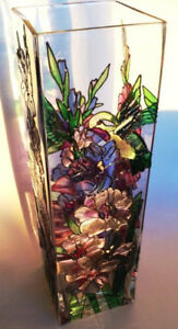 Joan Baker Design! -One of the kind Hand Painted Stained Glass V