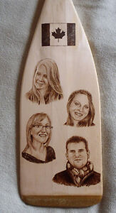 ORIGINAL AND UNIQUE WOODBURNED PADDLES-COMMISSIONS, GIFTS, ETC. Peterborough Peterborough Area image 5