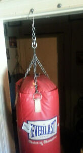 reduced----ever last adult punching bag with chains