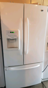 French door fridge with ice and water