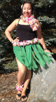 Hula (Hawaiian) dancers, featuring our REAL HAWAIIAN GIRL!