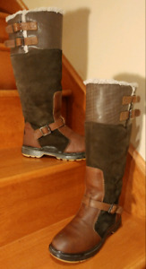 PAJAR Canada Tall Brown Leather Suede Wool Boots Wm. Sz 39(8.5)