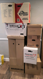 Moving Boxes (lot of 9)