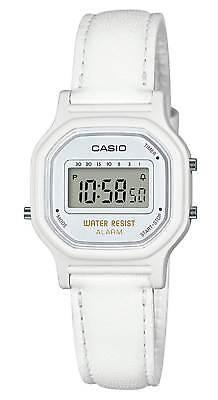 Casio Women's Digital Quartz White Resin / Synthetic Leather Watch LA11WL-7A
