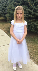 First Communion Dress, Veil and Shoes