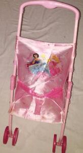 Disney Princess Pink Baby Doll Stroller