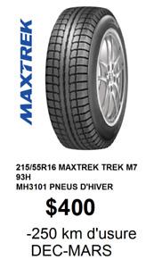 215/55R16 93H MAXTREK TREK M7 *4 PNEUS D'HIVER MH3101 DOIT VENDR