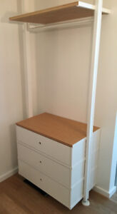 Ikea stand-up ultra modern wardrobe --- great for condo/apts