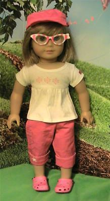 American Girl Fashion Show Outfit w Cap, Capris, Top and Sunglasses