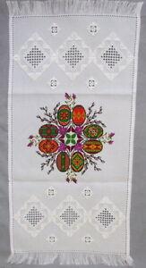 Ukrainian Embroidered Easter Basket Cover,Rushnyk,Towel, Pysanky Eggs,Wreath 27