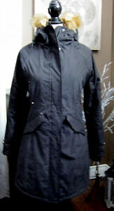 new ladies black winter parka