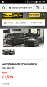 2 piece Sectional and large ottoman