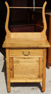 Antique Washstand With Towel Bar