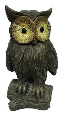Infinity Cement Brown 15.83 In. Owl Statue