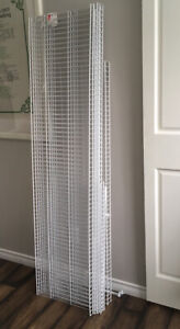"""Rubbermaid wire shelves.  5x66"""" 1x55"""" and 2x30"""" with brackets"""