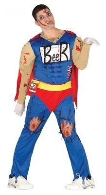 Herren Kostüm ZOMBIE Biermann Duff Beer Man Bier-Mann Halloween Comic Horror - Herr Duff Kostüm