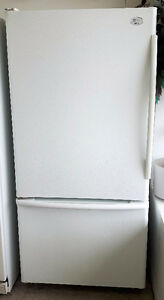 GE Profile 18 Cubic Foot Bottom Mount Refrigerator Freezer