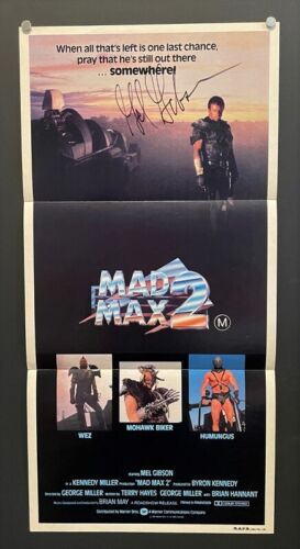 Mad Max Original Australian Movie Poster - Mel Gibson Signed *Hollywood Posters*