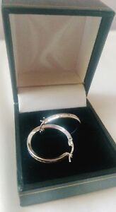 Silver Hoop Earrings - Mint Condition!! Cambridge Kitchener Area image 1