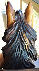 Antique Hand Carved Rosewood Decorative Horse head Kitchener / Waterloo Kitchener Area image 4
