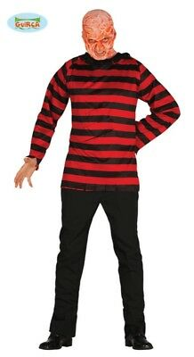 COSTUME TRAVESTIMENTO VESTITO CARNEVALE HALLOWEEN FREDDY KRUEGER NIGHTMARE