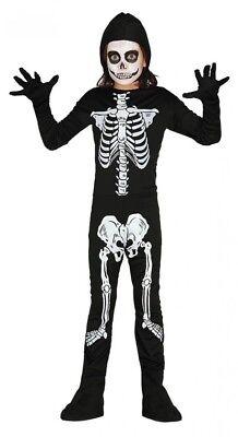 Overall mit Skelett Druck für Jungen und Mädchen Halloween Kinder Kostüm Knochen ()