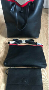 **BLACK & RED PURSE SET FOR SALE**