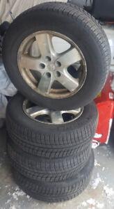 "16"" Michelin winter tires on 2008 Caravan rims."