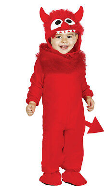 Baby Kleinkind rot Monster-Kostüm Kinder Kostüm Outfit Alter 6-12 & 12-24 Monate
