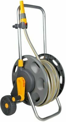 Hozelock 60m Hose Cart With 30m Hose Pipe On Wheels Garden Watering System