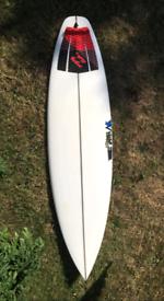 "6'2"" JS Monsta surfboard"