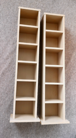 2 x storage shelves