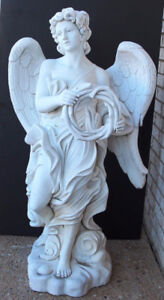 Italian Hand-Carved Marble Classic Angel Statue