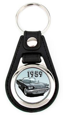 Ford 1959 Thunderbird - Richard Browne T-Bird Art  Key Fob -