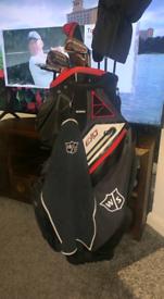 Wilson pro staff SGI full gold set & trolley bag