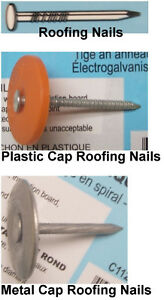 Steel Roofing Nails, Plastic cap or Metal Cap, Roofing Nails too London Ontario image 1