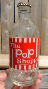VINTAGE 1978s POP SHOPPE ROOT BEER (300 ml / 10.6 oz) ACL BOTTLE