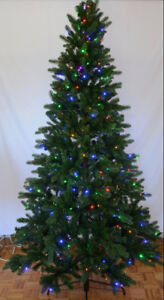 BRAND NEW 7.5 ft. Pre lit Blue Spruce Christmas Tree