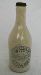 ANTIQUE SUSSEX BEVERAGE COMPANY GINGER BEER BOTTLE WITH CAP