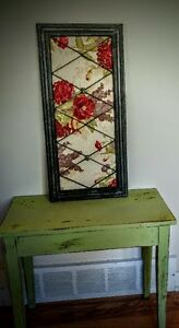 UNIQUE FRAME WITH MATERIAL BACKING!!!!!