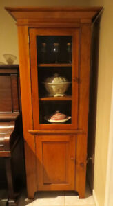 Custom Solid Pine Hutch and Buffet/Stereo Cabinet