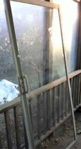 2 sets de portes patio (blanc ou brun) en acier